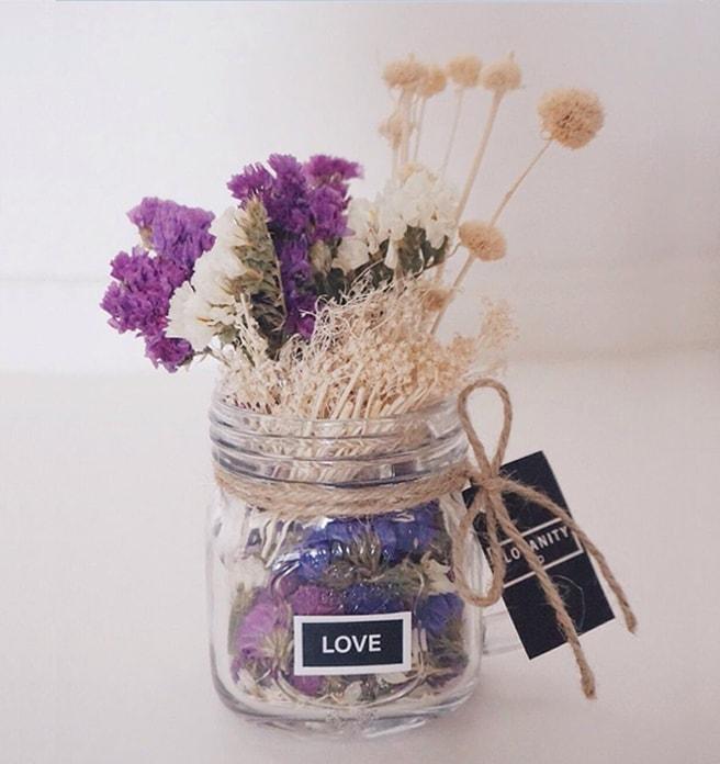Dried Flowers - Hibiscus, Purple